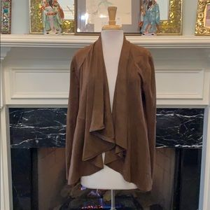Brown Ultra suede jacket with sweater back